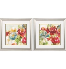 Fleurish Home Colorful Secret Garden 19x19 (Choice of 2 Images)