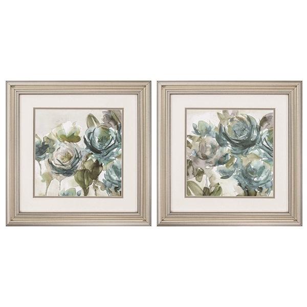 Fleurish Home Secret Garden Blues 20x20 (Choice of 2 Images)