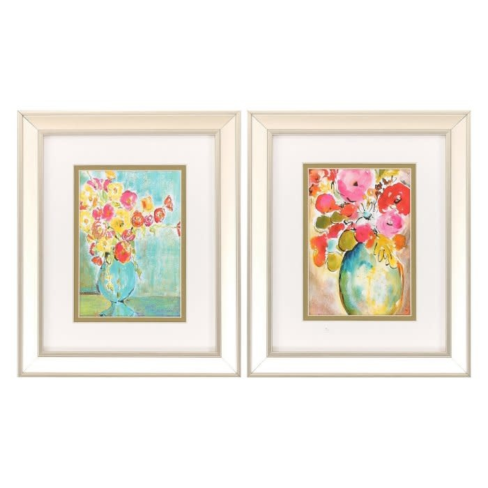 Fleurish Home Pastel Vase Artwork 12x10 (Choice of 2 Images)