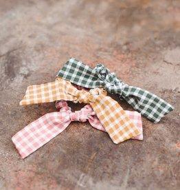 Fleurish Home Gingham Bow Hair Scrunchie (choice of 4 colors)