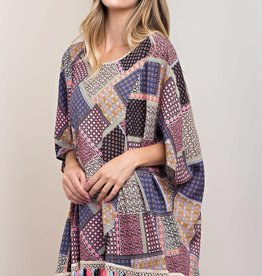 Fleurish Home Patchwork Print Top