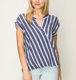 Fleurish Home Cap Sleeve Crossover Blouse