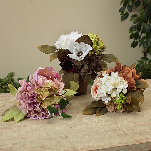 "Fleurish Home Deluxe Flower Bundle w Berry Accent 10"" (3 asst)"