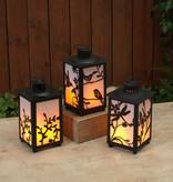 Fleurish Home Plastic Fireglow Lantern (3 asst)