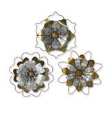 """Fleurish Home Metal Flower Wall Decor 17"""" (3 asst)"""
