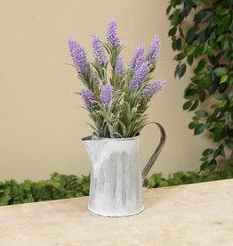 "Fleurish Home Lavender in Metal Watering Can 14.5"""