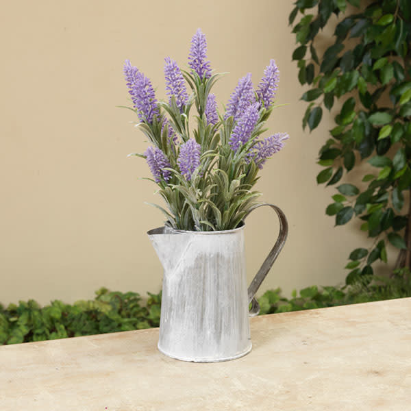 Fleurish Home Lavender in Metal Watering Can 14.5""