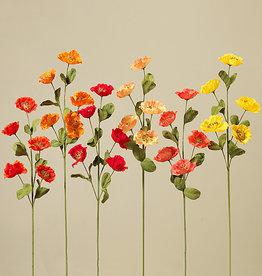 "Fleurish Home Poppy Flower Spray 31"" (6 asst)"
