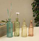 "Fleurish Home Decorative Colored Glass Bottle 6.5"" (4 asst)"