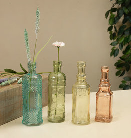 "Fleurish Home Decorative Colored Glass Bottle 6.5"" (4 asst)"