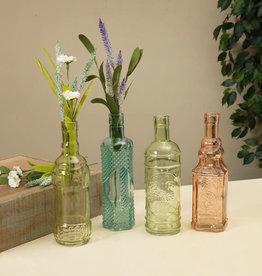"Fleurish Home Decorative Colored Glass Bottle 8.75"" (4 asst)"