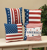 Fleurish Home Americana Pillow (4 asst)