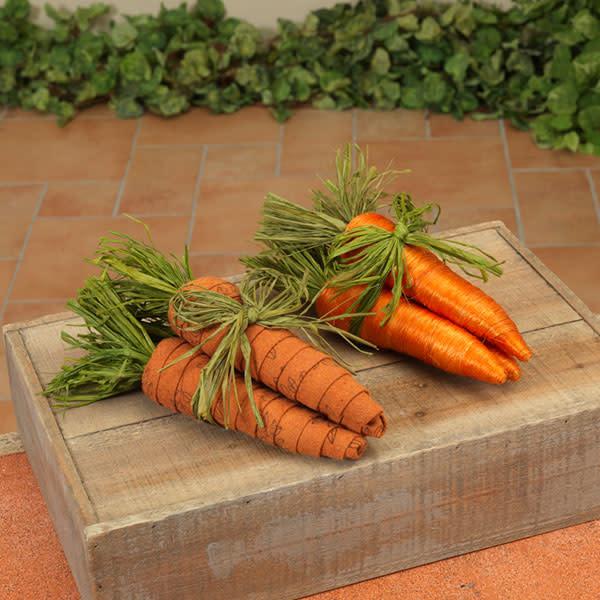 """Fleurish Home Carrot Bundle 8"""" (2 asst)"""