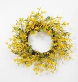 "Fleurish Home Natural Twig Forsythia w Berry Wreath 24"""