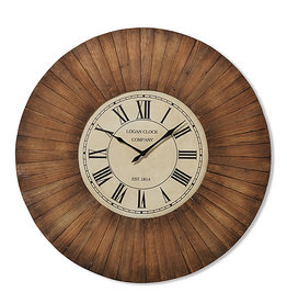 Fleurish Home Antique Wood Hanging Wall Clock 30.75""