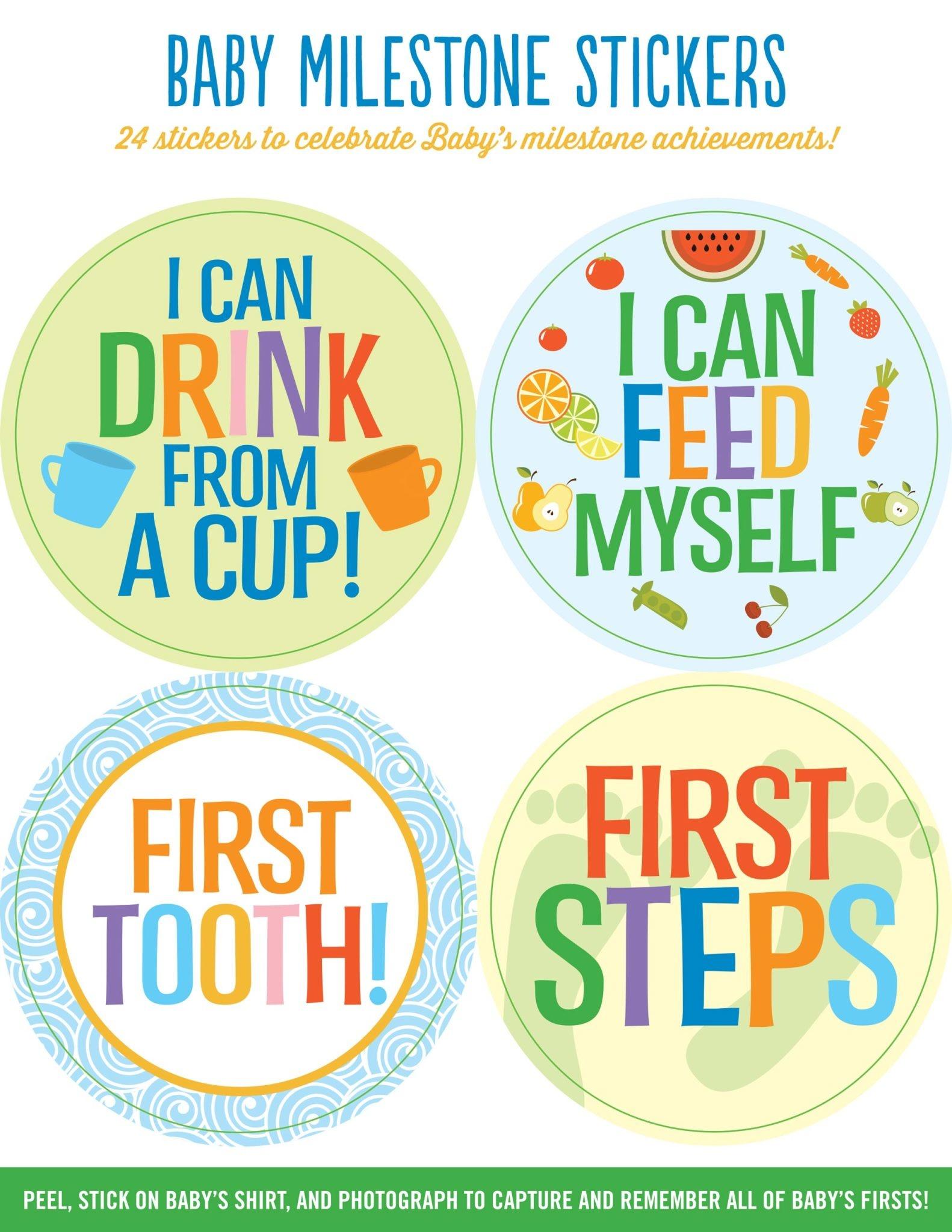 Fleurish Home Baby Milestone Stickers