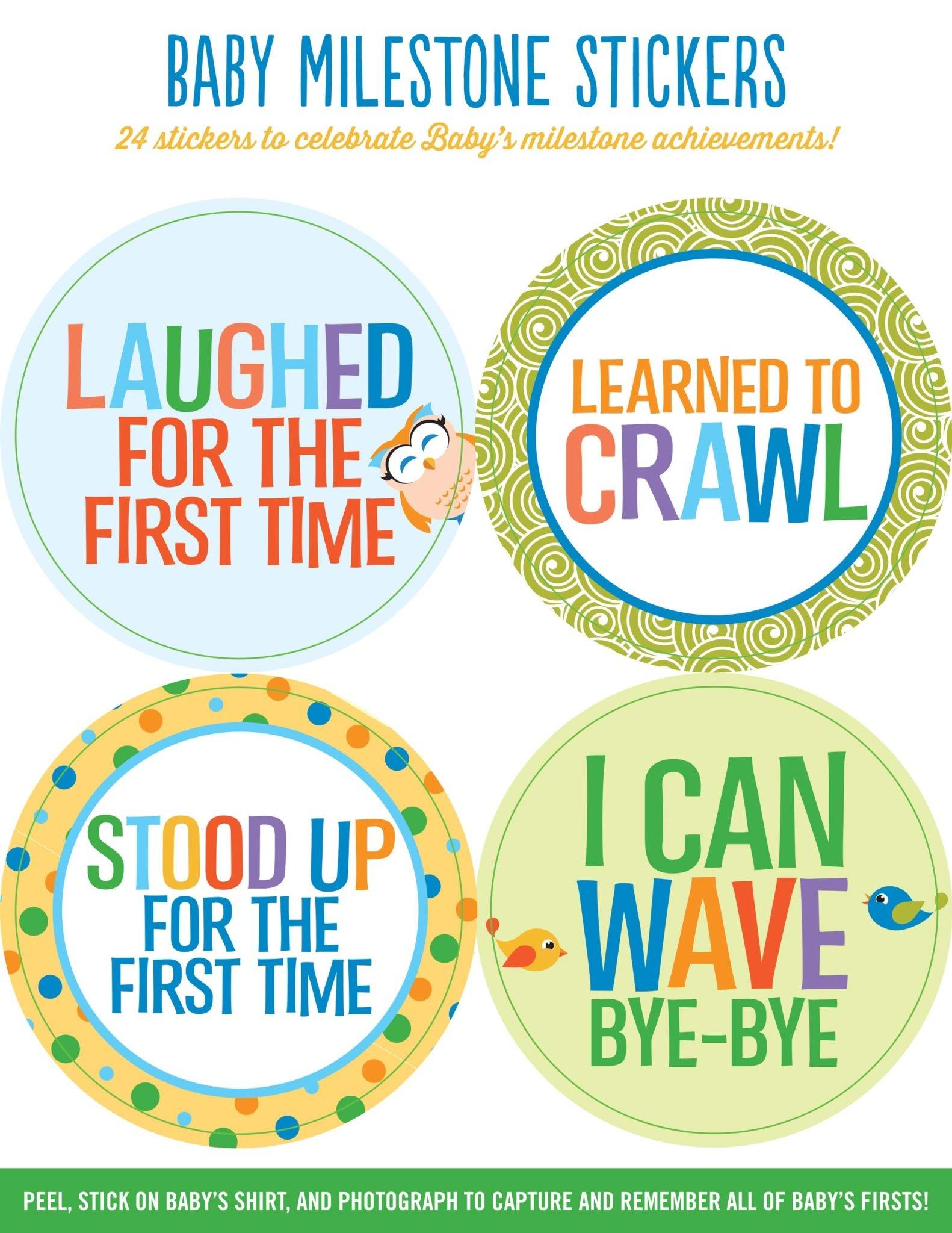 Fleurish Home Baby Milestone Stickers *last chance
