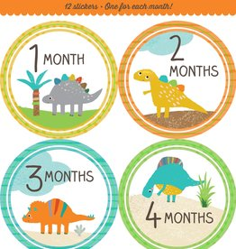 Fleurish Home *last chance* Baby's Monthly Milestone Stickers: Dinosaurs