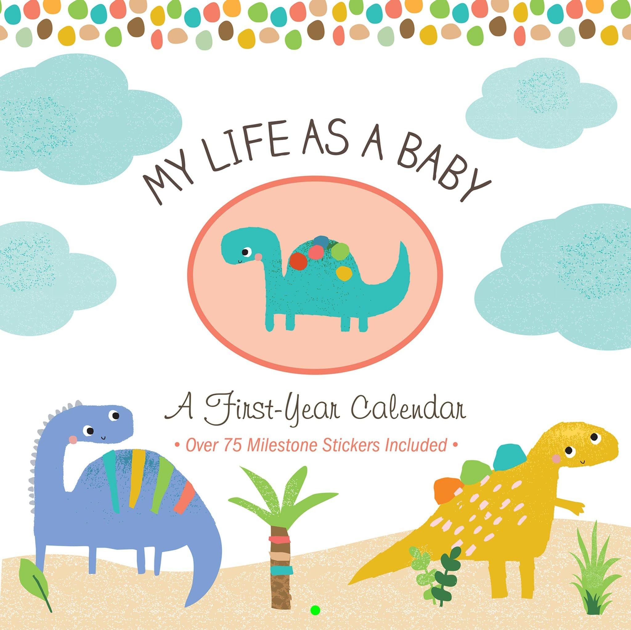 Fleurish Home My Life as a Baby: First-Year Calendar - Dinosaurs