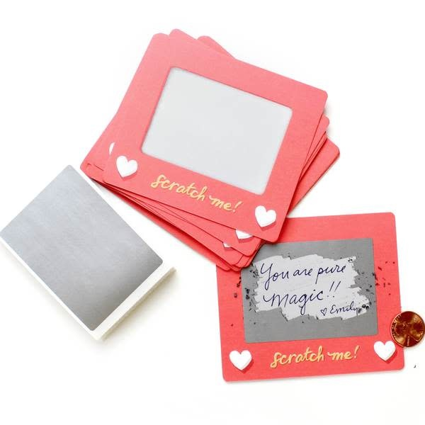 "Fleurish Home Scratch Off Lunch Box Notes ""ETCH-A-SKETCH"""