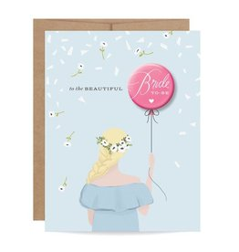 Inklings Paperie Bride to Be Button Card Blonde