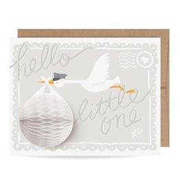 Inklings Paperie Baby Stork Pop Up Card