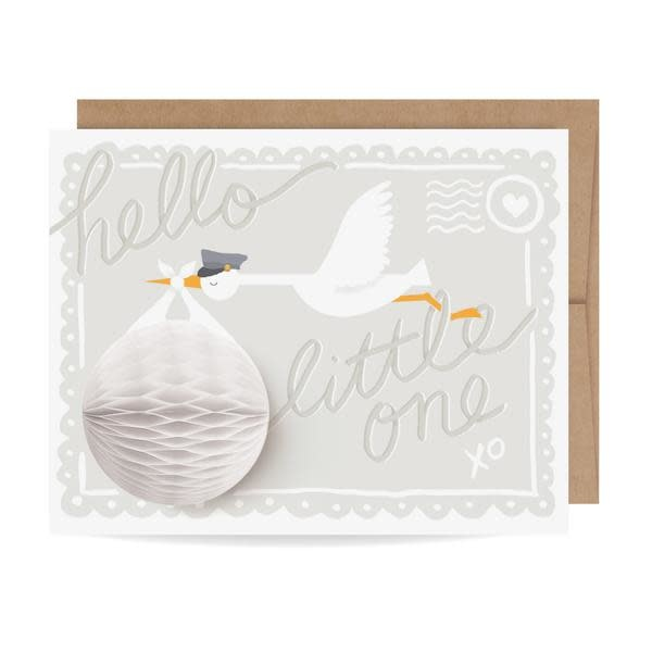 Fleurish Home Baby Stork Pop Up Card