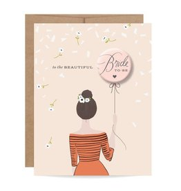 Inklings Paperie Bride to Be Button Card Brunette