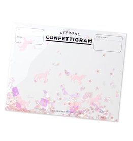Fleurish Home Unicorn Confettigram