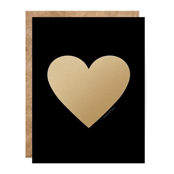 Fleurish Home Black & Gold Scratch Off Card