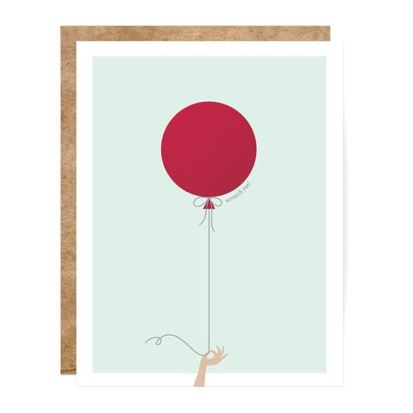 Fleurish Home Mint & Red Balloon Scratch Off Card