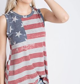Fleurish Home Vintage Style 4th of July Sleeveless Tee