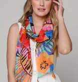 Fleurish Home Abstract Tropical Print Lightweight Scarf