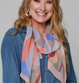 Fleurish Home Abstract Chiffon Oblong Scarf