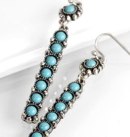 Fleurish Home Boho Style Turquoise Bar Earrings