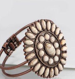 Fleurish Home Stone Boho Blossom Hinge Bracelet