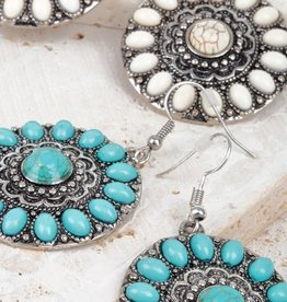 Fleurish Home Bohemian Mandala Flower Hook Earrings