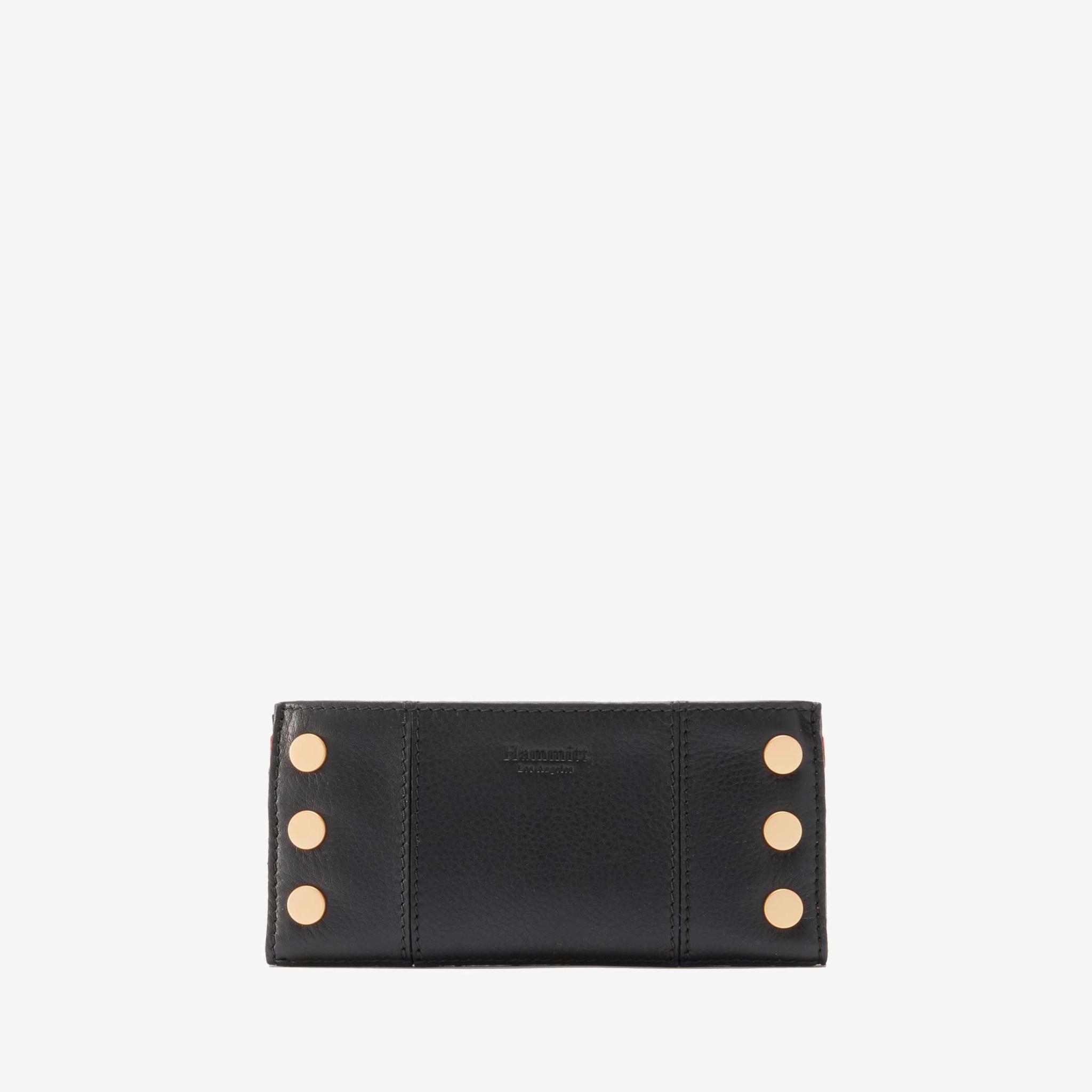 Hammitt 110 North Wallet- Black w Brushed Gold