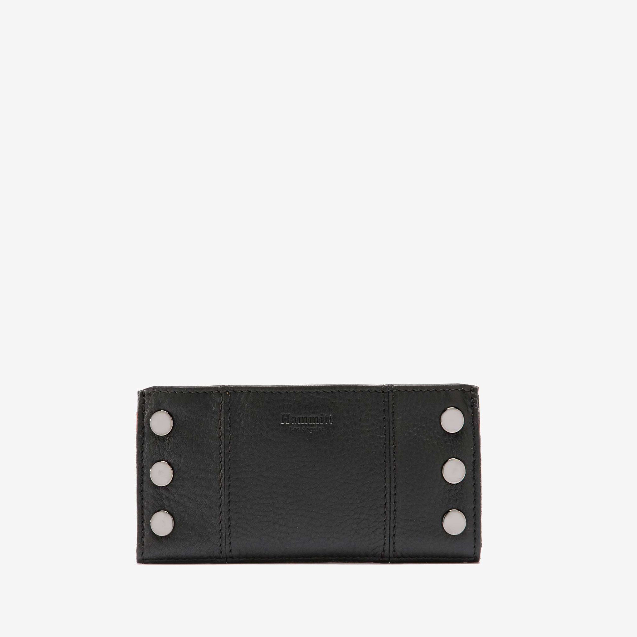 Hammitt 110 North Wallet- Black w Gunmetal