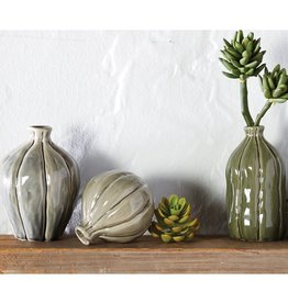 Mudpie TEXTURED CRACKLE VASES (Choice of 3 Styles)