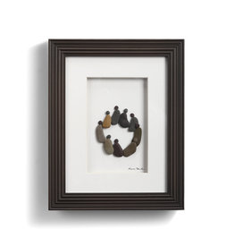 Fleurish Home Circle of Friends Pebble Art 8x10