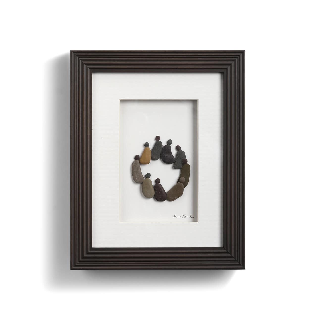 Fleurish Home Circle of Friends Pebble Art 8x10