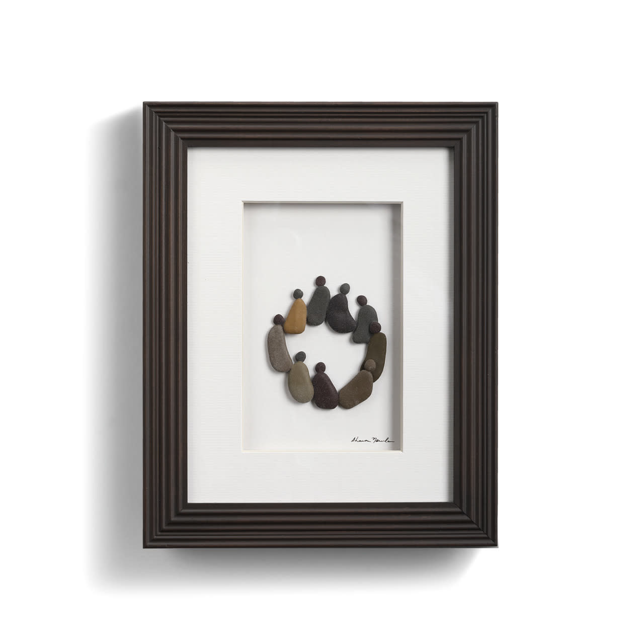 Sharon Nowlan Circle of Friends Pebble Art 8x10 *final few