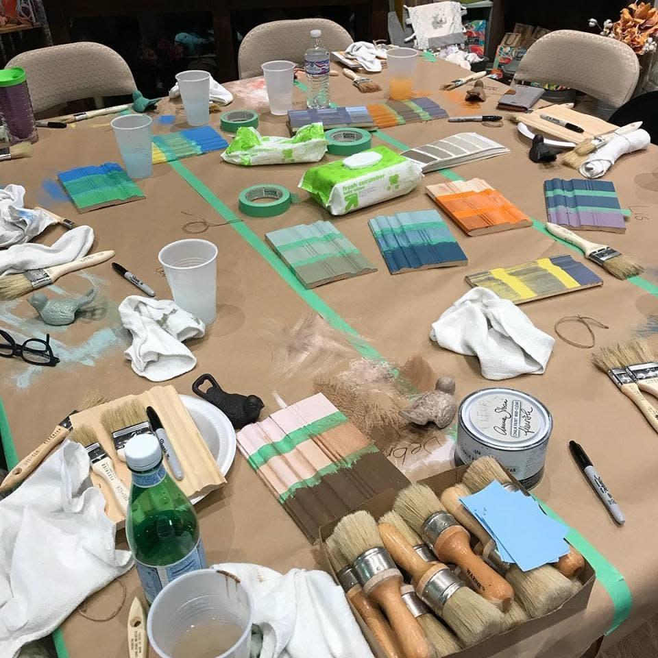Fleurish Home Workshop: Furniture Painting w Jolie Paint --The Basics Class