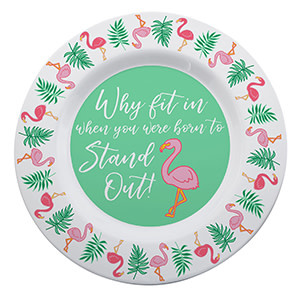 Fleurish Home Flamingo Melamine Platter