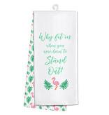 Fleurish Home Flamingo Tea Towel