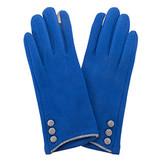 Fleurish Home Button Gloves Royal Blue