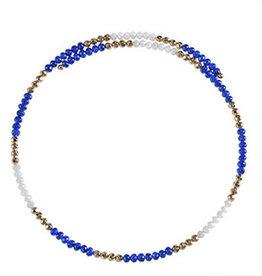 Fleurish Home Wire Choker Necklace Royal Blue
