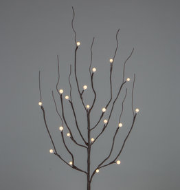Fleurish Home Brown Wrapped City Lights LED Lit Branch 39""