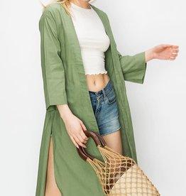 Fleurish Home Lightweight Oversized Open Coat